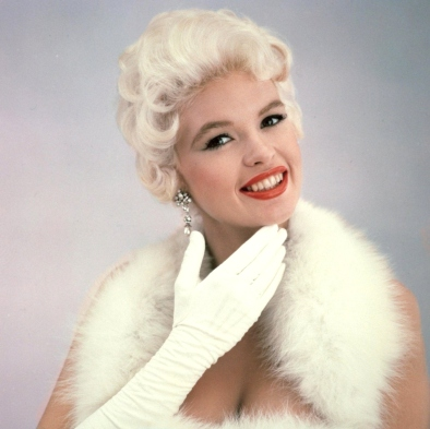 Jane Mansfield in white gloves
