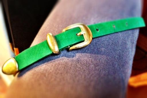 Green belt, belted