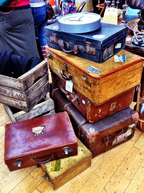 Vintage trunks and suitcases
