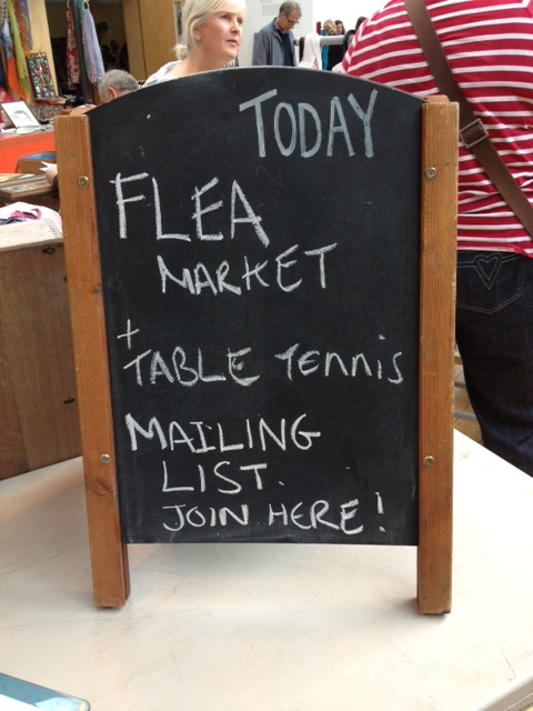 Flea market and table tennis