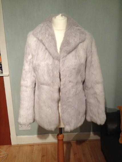 vintage rabbit fur jacket