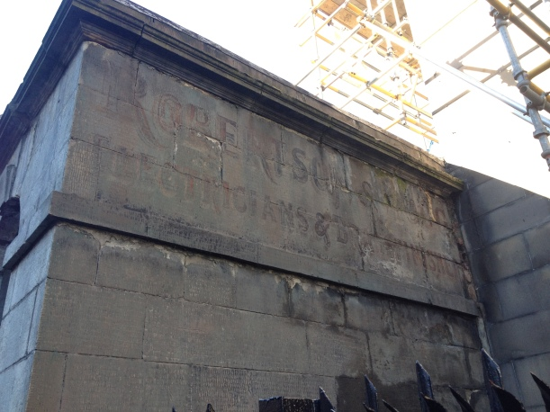 Ghost sign on Infirmary Street