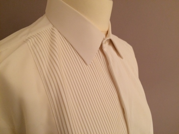 vintage 1960s tuxedo shirt